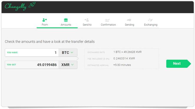 Troque BTC por XMR